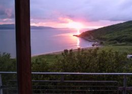 Hygge House Buncrana Inishowen - view of Lough Swilly sunset