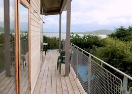 Hygge House Buncrana Inishowen - balcony with panoramic views