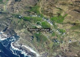 Falmore Cottage along Wild Atlantic Way - aerial view
