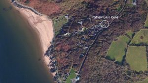 Aerial Porthaw Bay House