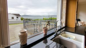 Porthaw Bay House - view from kitchen