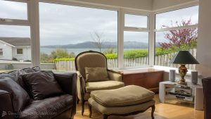 Porthaw Bay House - view from living room