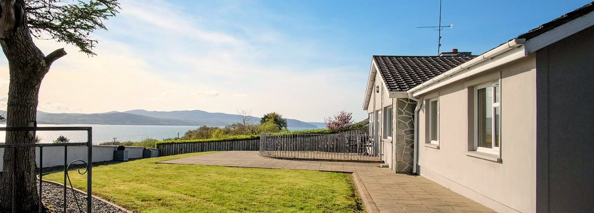 Porthaw Bay House Buncrana with views over Lough Swilly