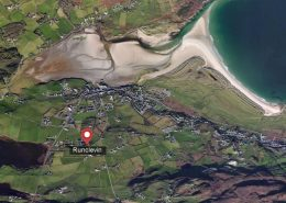 Runclevin House Dunfanaghy - aerial view of location