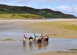 Runclevin House Dunfanaghy - pony trekking on the beach