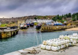 Bunagee Pier, Culdaff; with all the boats safely wintering out of the water