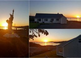 Statue of Liberty House - west Donegal sunset