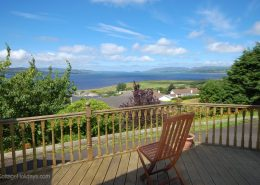 Swilly View Lisfannon Inishowen - deck with a view towards mouth of Lough Swilly