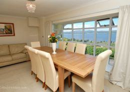 Swilly View Lisfannon Inishowen - dining table with a view!