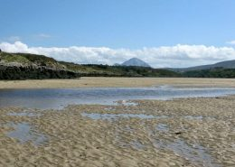 Rottytoy Beach House Bunbeg - looking towards Mt Errigal