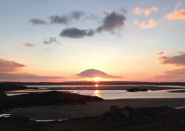 Rottytoy Beach House Bunbeg - west Donegal sunset