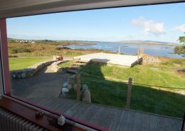The Sea House Dungloe - view over deck to sea