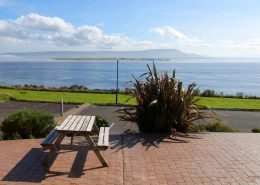 Castle Inn Apartments Greencastle - view from the patio over Lough Foyle