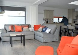 Cliff Lodge Rossnowlagh - living area and kitchen