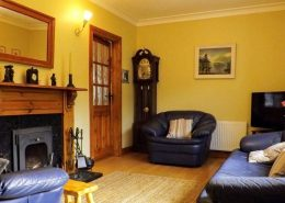 Dún a Dálaigh - Comfortably furnished living room with wood burning stove