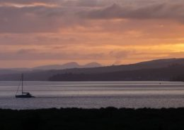 yacht fahan sunset