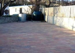 Beach Townhouse Downings - paved rear area