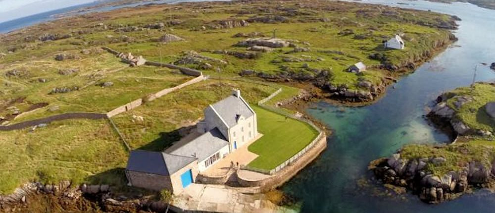 Inishcoo House Donegal - aerial view