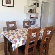 Kitchen table in Annie's River Retreat